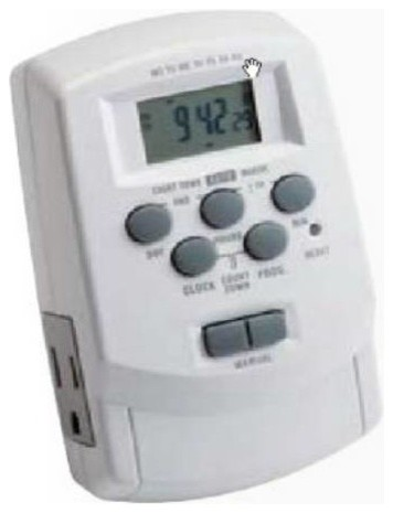 Kichler 15556wh Digital Transformer Timer With Daylight Sa 15556wh Modern Kitchen Timers