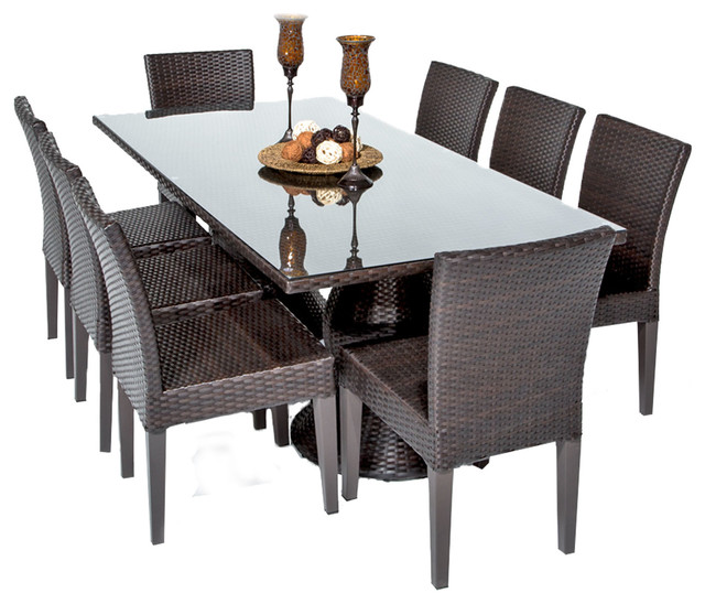 Saturn Rectangular Outdoor Patio Dining Table With 8  : contemporary outdoor dining sets from www.houzz.com size 640 x 548 jpeg 83kB