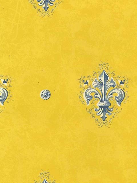 Yellow wallpaper r stico papel pintado houston de for Papel pintado rustico