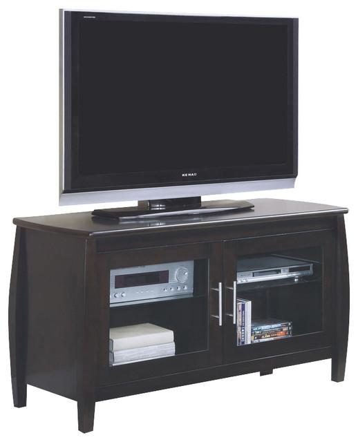 Monarch Specialties I 3558 Dark Walnut Veneer 48 Inch TV Console - Contemporary - Accent Chests ...