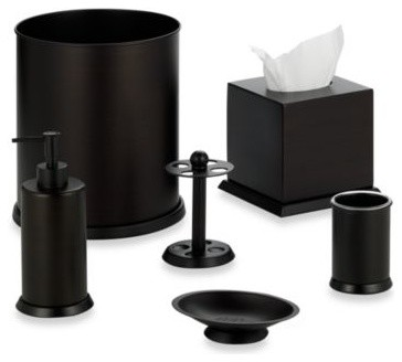 Stanton Oil Rubbed Bronze Waste Basket Contemporary Wastebaskets By Bed Bath Beyond