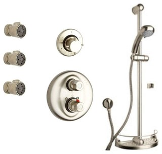 Water Harmony Shower Combination 6 In Brushed Nickel Contemporary Bathtub