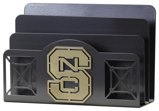 Collegiate Logo Unique Letter Holder, North Carolina State University - Contemporary - Desk ...