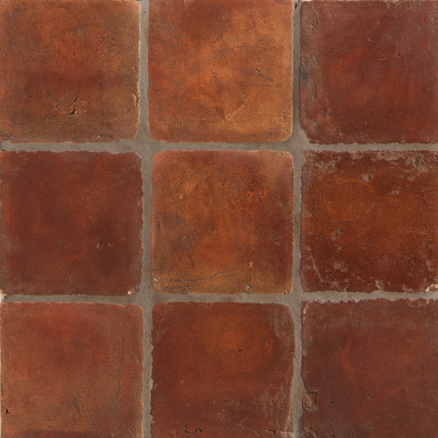 Spanish handmade terracotta tile mediterranean wall for Spanish style floor tiles