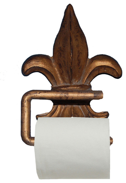 Fleur de lis toilet paper holder traditional toilet paper holders by cpi - Fleur de lis toilet paper holder ...