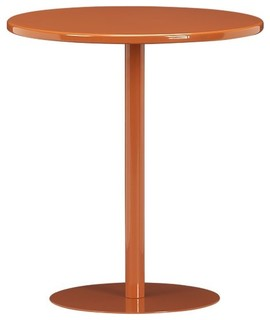 Pedestal Cayenne Side Table - Modern - Outdoor Side Tables - by Crate&Barrel