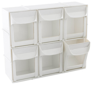 Modular Flip-Out Bins - Contemporary - Storage And Organization - by The Container Store
