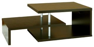 Kafai multi level coffee table cappuccino contemporary for 3 level coffee table