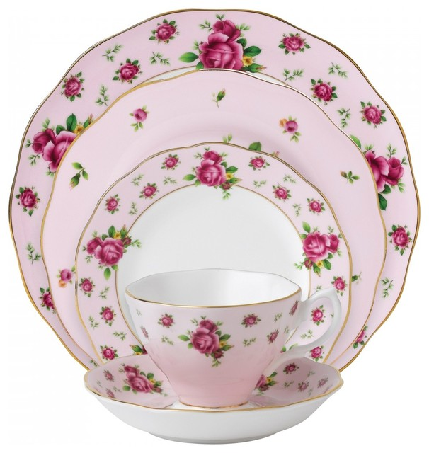 Royal Albert New Country Rose Pink Formal 5 Piece Place