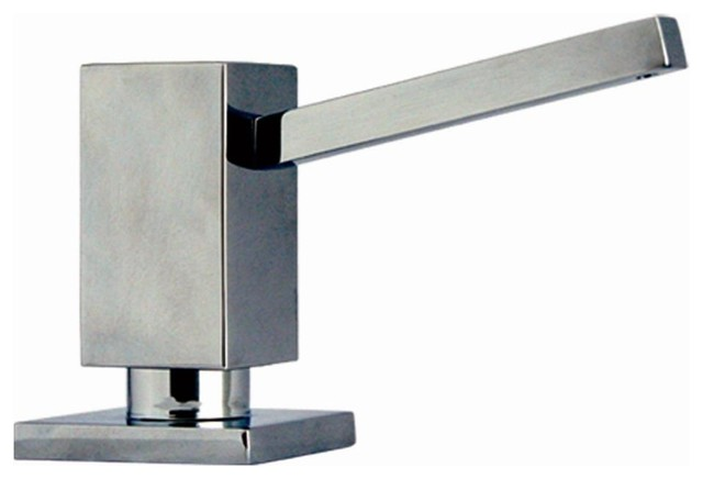 Q Haus Soap Dispenser Polished Chrome Contemporary Bathroom Accessories By Shopladder