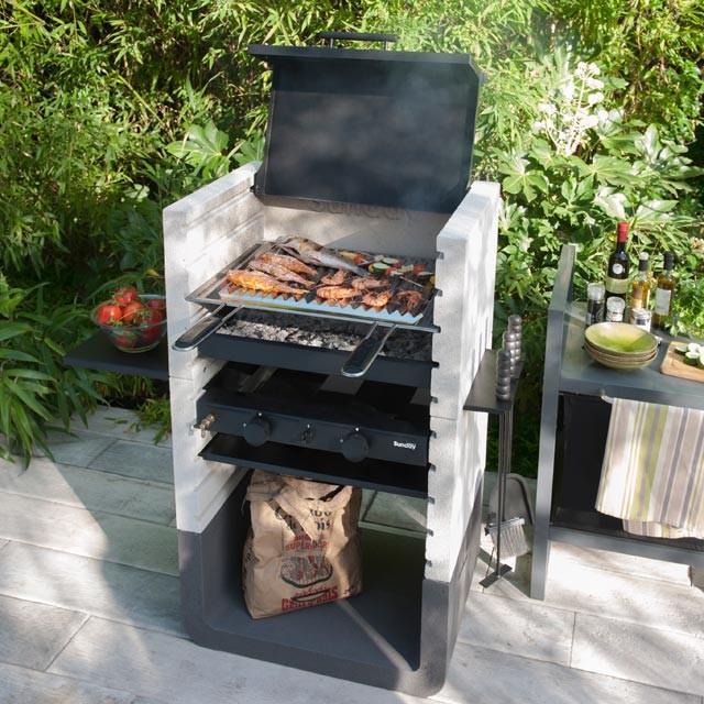 Barbecue en pierre reconstitu e one contemporary bbqs - Pierre decorative castorama ...