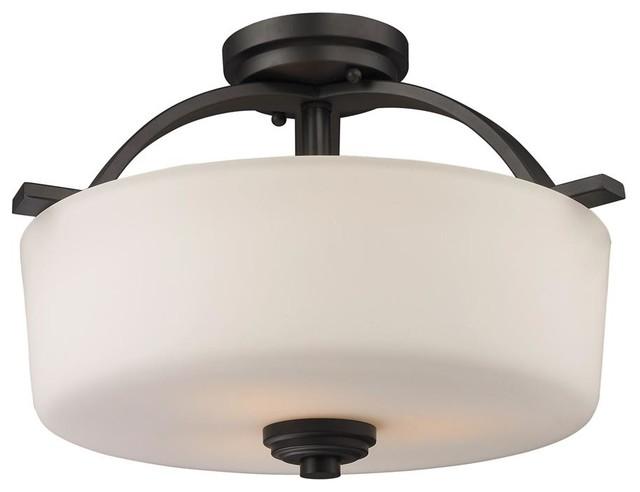 Flush ceiling lights contemporary : Arlington light semi flush mount contemporary