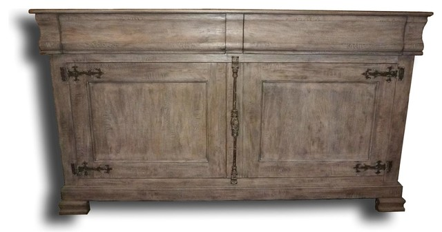 Philippe Pickled Antique White Sideboard