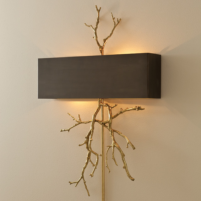 twig sconce, gold - Eclectic - Wall Sconces - oklahoma city - by BELLA VICI