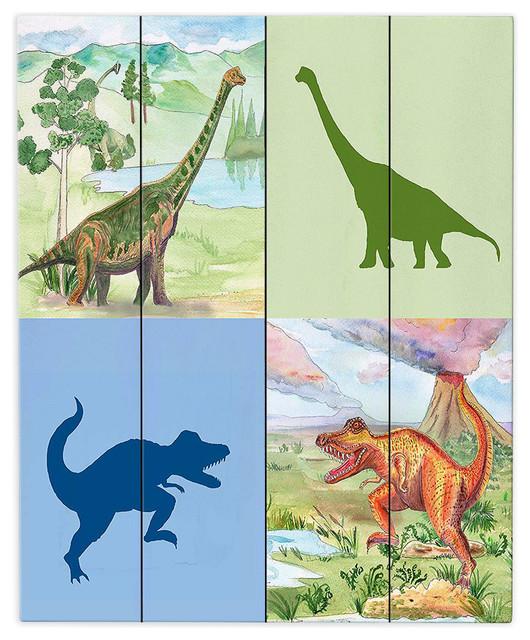 Dianoche Wood Plank Wall Art By Catherine Holcombe Dinosaur I