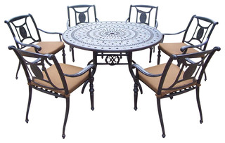 pc patio round dining set contemporary patio furniture and