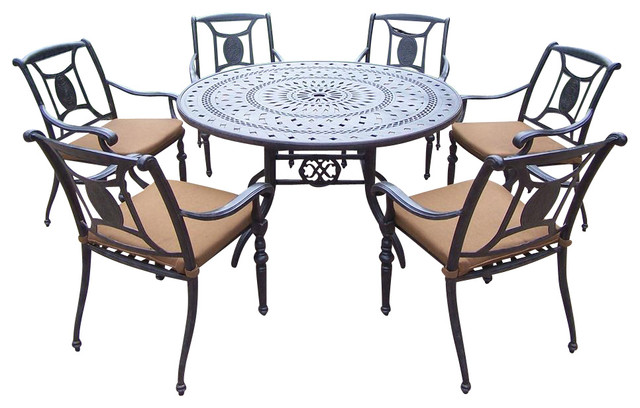 pc patio round dining set contemporary patio furniture and outdoor