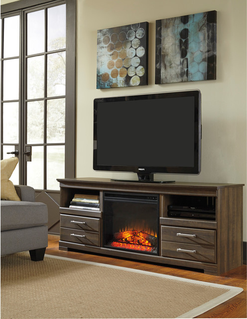 signature design by ashley frantin brown large tv stand