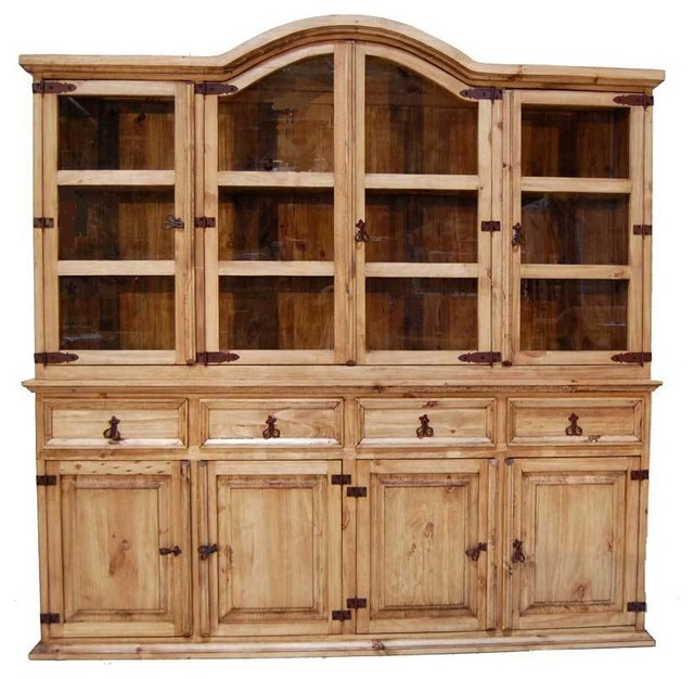 Large 2-Piece China Hutch - Southwestern - China Cabinets And Hutches ...