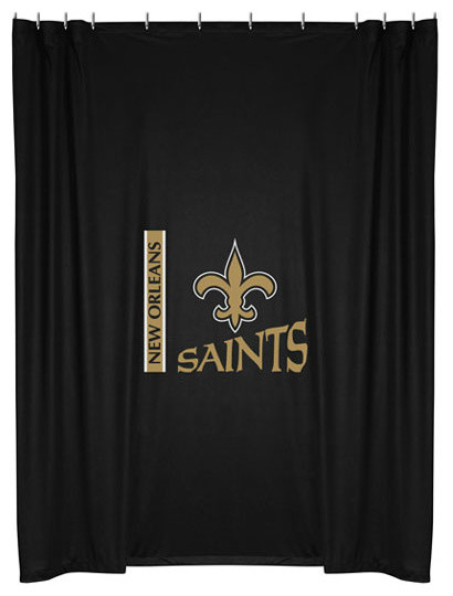 Nfl New Orleans Saints Football Locker Room Shower Curtain Traditional Shower Curtains By