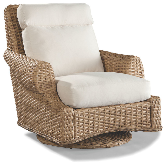 Mooring Swivel Glider Chair Tropical Outdoor Lounge Chairs