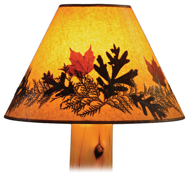 lamp shade foliage extra large rustic lamp shades by fireside. Black Bedroom Furniture Sets. Home Design Ideas