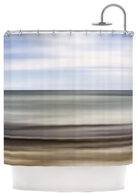 Iris Lehnhardt Abstract Beach Gray Brown Shower Curtain Beach Style Shower Curtains By