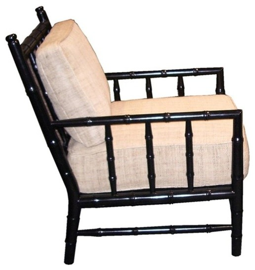 Noir Furniture Bamboo Relax Chair Sof102 Black Asian Armchairs And Accent Chairs