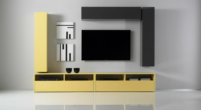 Modern Wall Unit TV Media Entertainment Center Combi 7 ...