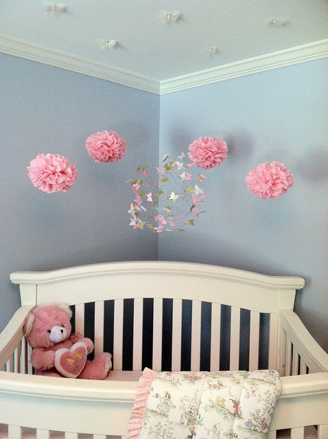 Nursery decor with butterfly mobiles modern nursery - Modern nursery wall decor ...