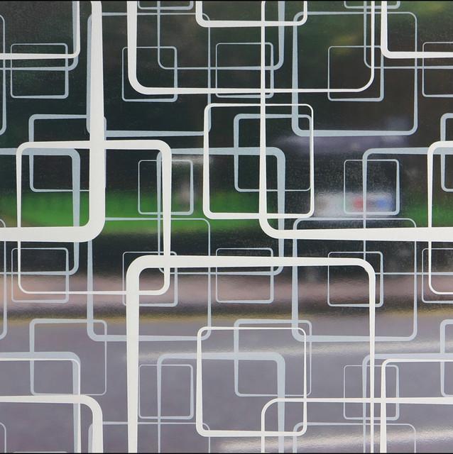 Retro squares sheer window film 3 ft x 4 ft for 10 ft window blinds