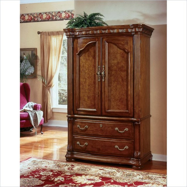 wynwood cordoba entertainment armoire in burnished pine