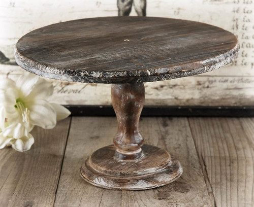 Rustic Wood Cake Stand