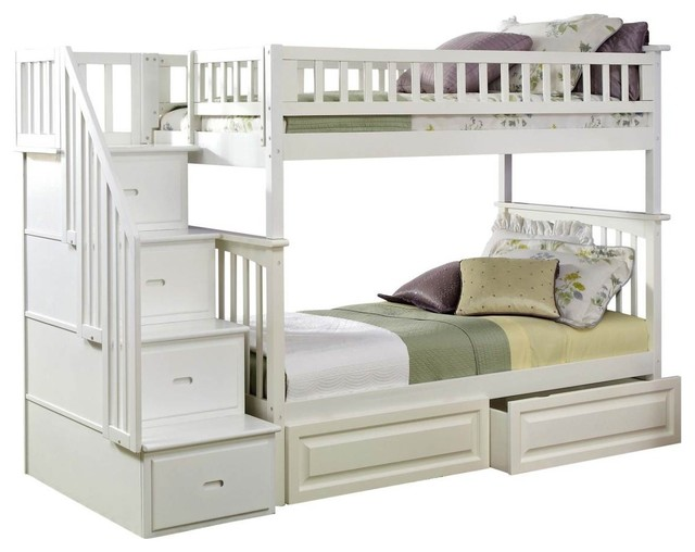 bunk beds white wood 1
