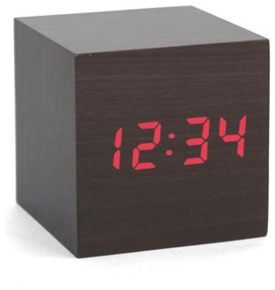 Wooden Cube Alarm Clock - Eclectic - Alarm Clocks - by Seltzer Studios