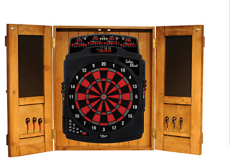 South Coast Rustic Dartboard Cabinet - Rustic - Darts And Dartboards - houston - by Billiard Factory