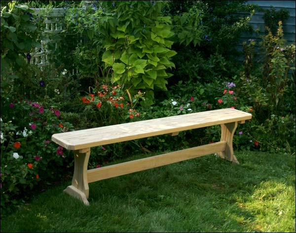 Modern Outdoor Trestle Tables : Outdoor Treated Benches