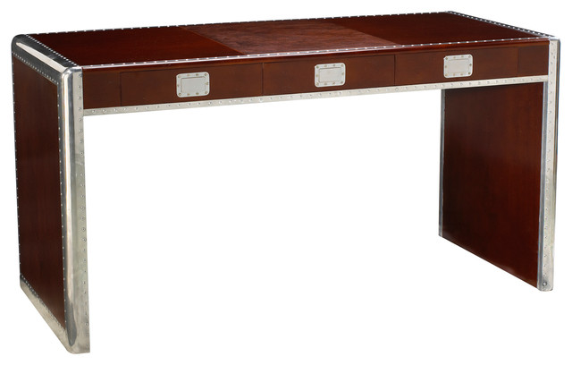 French Heritage Ferault Desk Dark Cherry And Burgundy