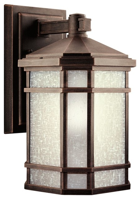 Outdoor Lighting Fixtures Arts And Crafts KICHLER Cameron Arts And Crafts Mission Outdoor Wall Sconce X RP9179 Transi