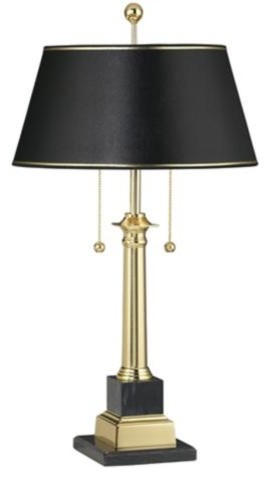 georgetown solid brass desk lamp traditional table. Black Bedroom Furniture Sets. Home Design Ideas