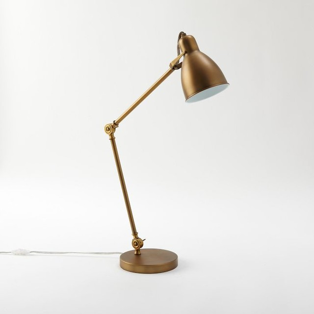 Industrial Task Table Lamp Antique Bronze Modern Desk