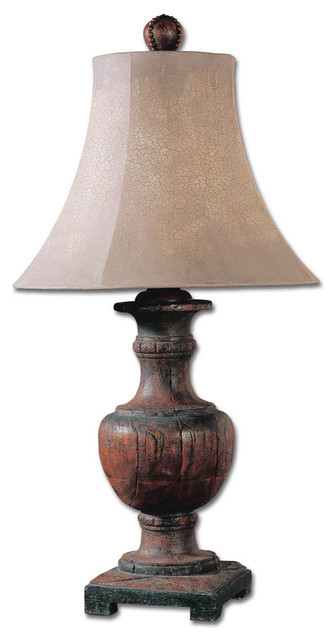 uttermost woodman dark wood table lamp 27090 transitional table lamps. Black Bedroom Furniture Sets. Home Design Ideas