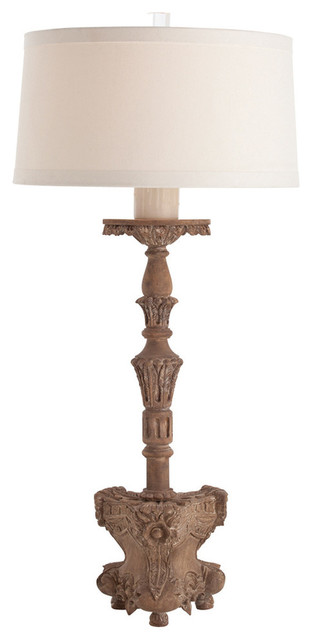 normandy hand carved solid wood lamp traditional table lamps. Black Bedroom Furniture Sets. Home Design Ideas