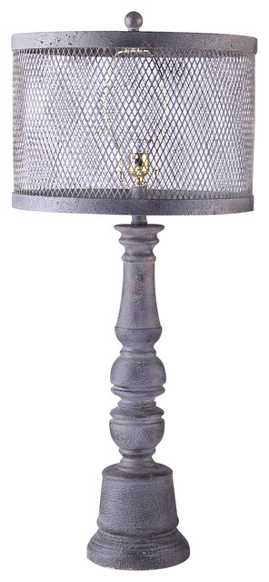 industrial chic lamp with metal mesh shade contemporary lamp shades. Black Bedroom Furniture Sets. Home Design Ideas