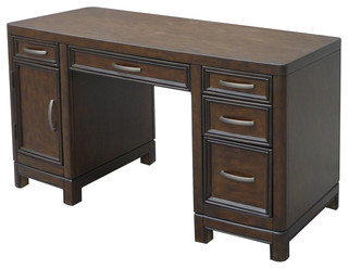 Crescent Hill Pedestal Desk Transitional Desks And Hutches By Home Styles Furniture