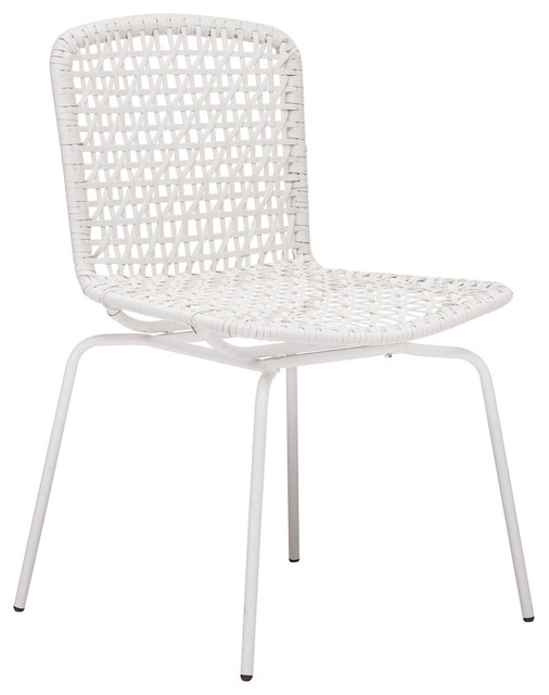 Zuo Modern Silvermine Bay Dining Chairs Set of 4 White Contemporary Out