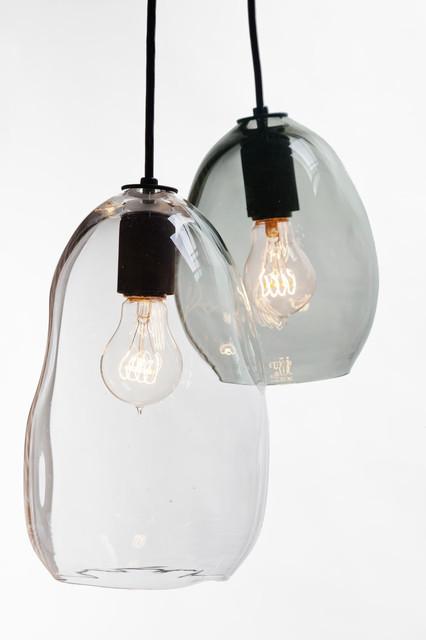 hand blown bubble glass pendant light. Black Bedroom Furniture Sets. Home Design Ideas