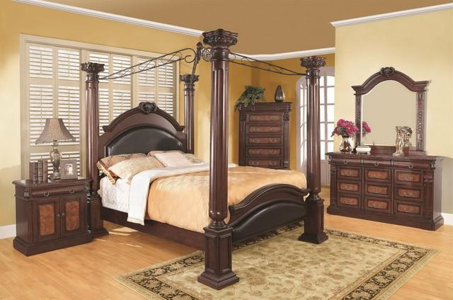 grand prado 5 pcs poster classic bedroom set bedroom furniture sets