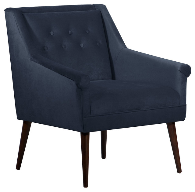 Bejal tufted accent chair navy contemporary armchairs Tufted accent chair