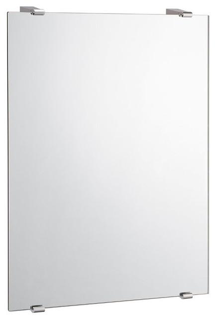 Gatco 1563 bleu 22 x 30 minimalist flat edge wall for Large flat bathroom mirrors